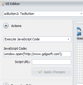 Opening menu button in new window - ExeOutput for PHP - G D G