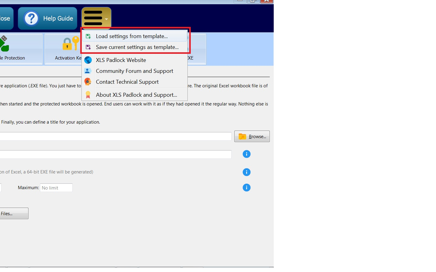 BUG when saving excel data with template - XLS Padlock - G.D.G. ...
