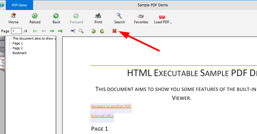 Request: Open PDF Viewer in new window - HTML Executable