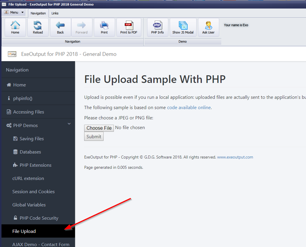 Using pdf curl file