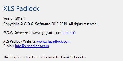 scr  xls padlock version
