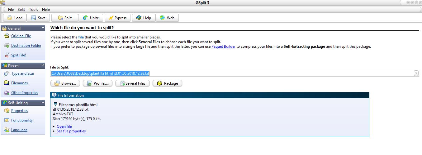 Difficulties splitting my first file - GSplit - G D G  Software Forum